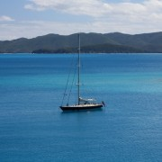 Pacific Wave at anchor view of St John USVI