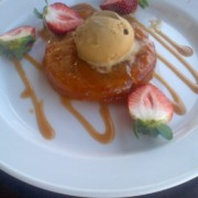 Pear Tarte Tatin with Strawberries