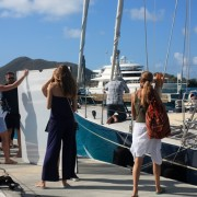 SY Pacific Wave photoshoot Scrub Island Marina BVI