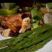 Lobster & Shrimp Terrine with fresh Asparagus