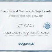 Mark Miles Antigua Concours de Chefs Award