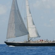 SY Pacific Wave sailing with guests