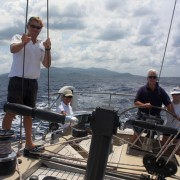 Couple sailing back to Antigua onboard Pacific Wave New York Yacht Club Member