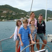 Family yacht charter at New Year in the BVI