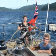 Honeymoon Couple onboard SY Pacific Wave British Virgin Islands