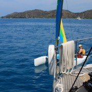 Hobbie Cat dinghy sailing in the BVI
