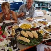 Antigua Yacht Show Concours de Chefs Judges onboard Pacific Wave