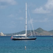 Pacific Wave at anchor of Peter Island BVI