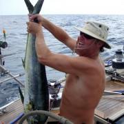 Mark Miles and a freshly caught Dorado