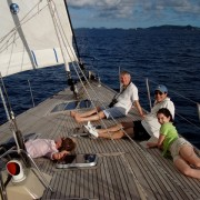 Christmas Family Charter sailing to Norman Island BVI