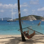 Pacific Wave at anchor off Peter Island BVI