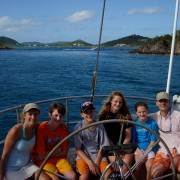 New Year Family Charter onboard Pacific Wave Christmas Cove USVI
