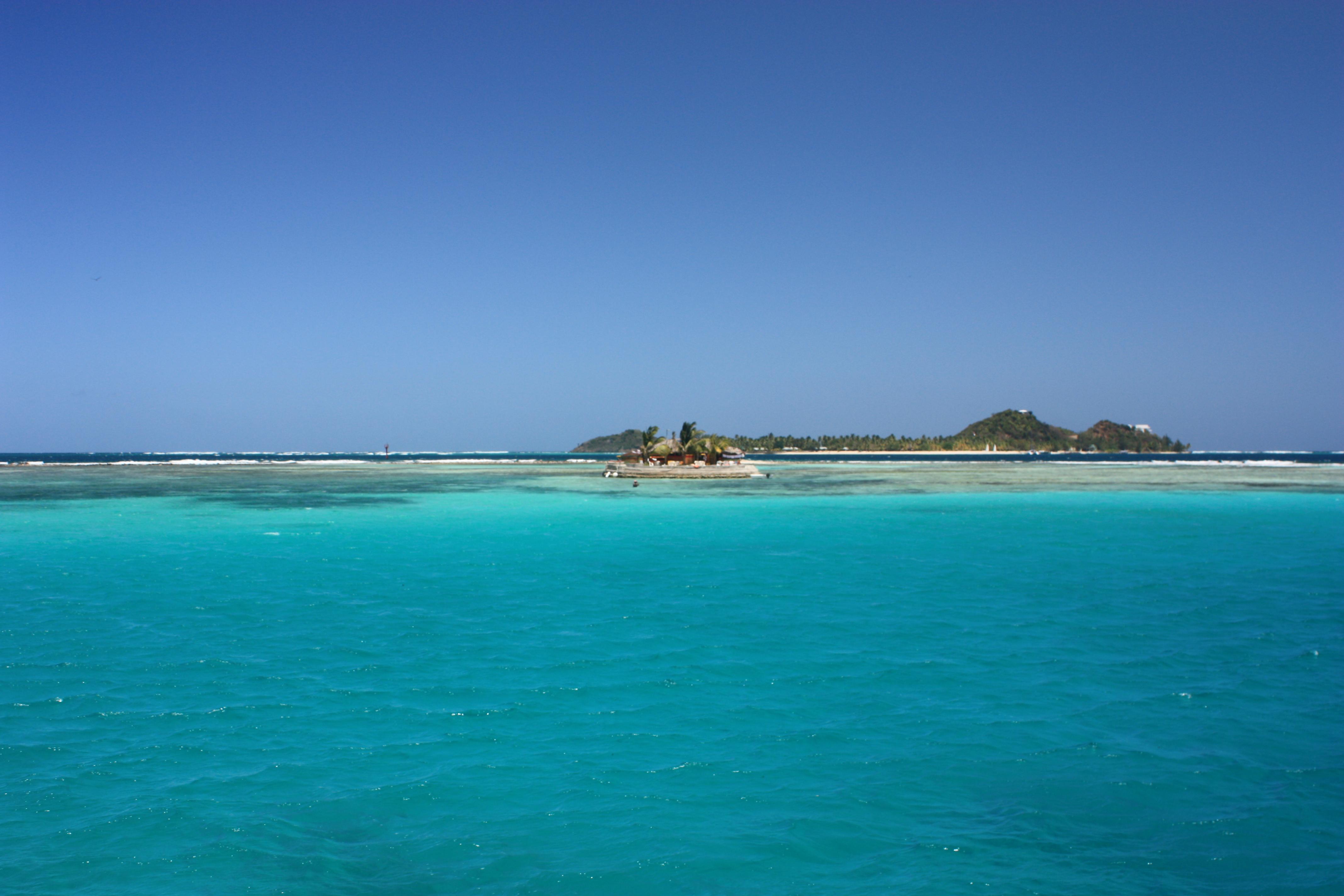 Happy Island on Union Island the Grenadines