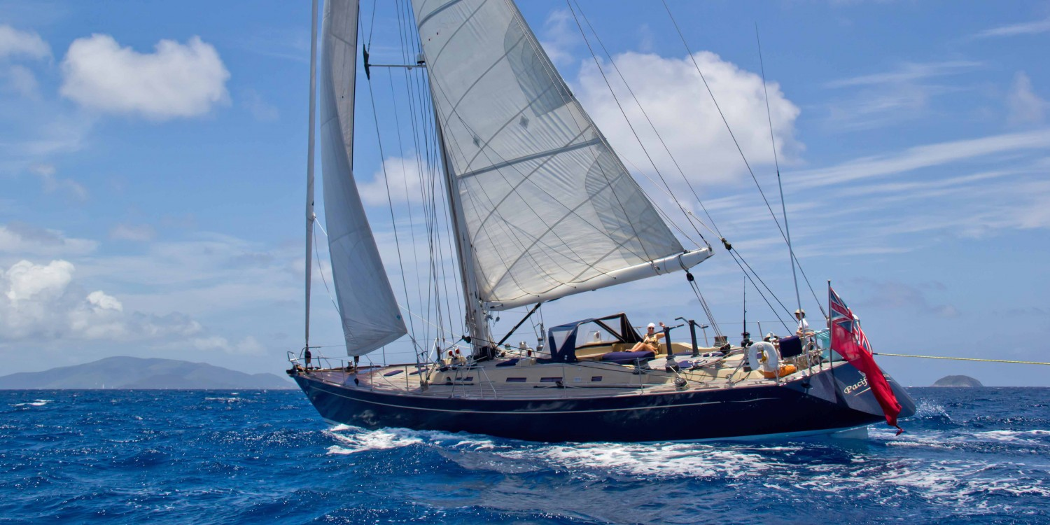 SY Pacific Wave sailing British Virgin Islands