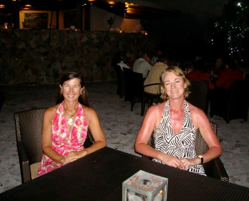Lynn Griffiths and Debbie Leach at the Biras Creek Hotel BVI