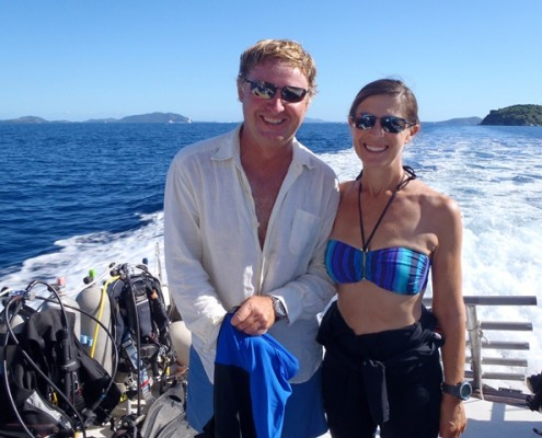 Lynn Griffiths and Mark Miles Diving in the BVI