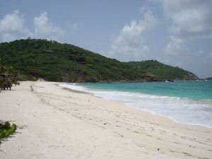 Magical island of Mustique in the Grenadines