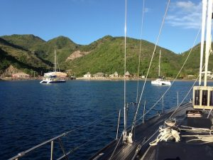 Arriving in Little Bay Montserrat on Pacific Wave