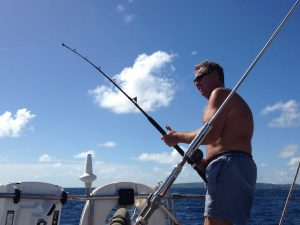 Fishing from Pacific Wave en route to Grenada