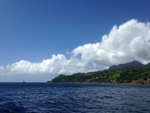 Sailing along the northwest coast of Martinique onboard Pacific Wave