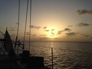 Sunset from Pacific Wave in Grenada we've arrived at our destination