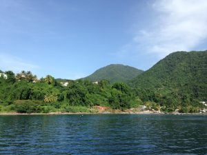 View of Dominica from Pacific Wave