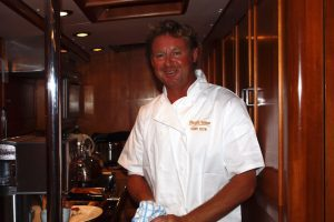 Chef Mark Miles onboard Pacific Wave