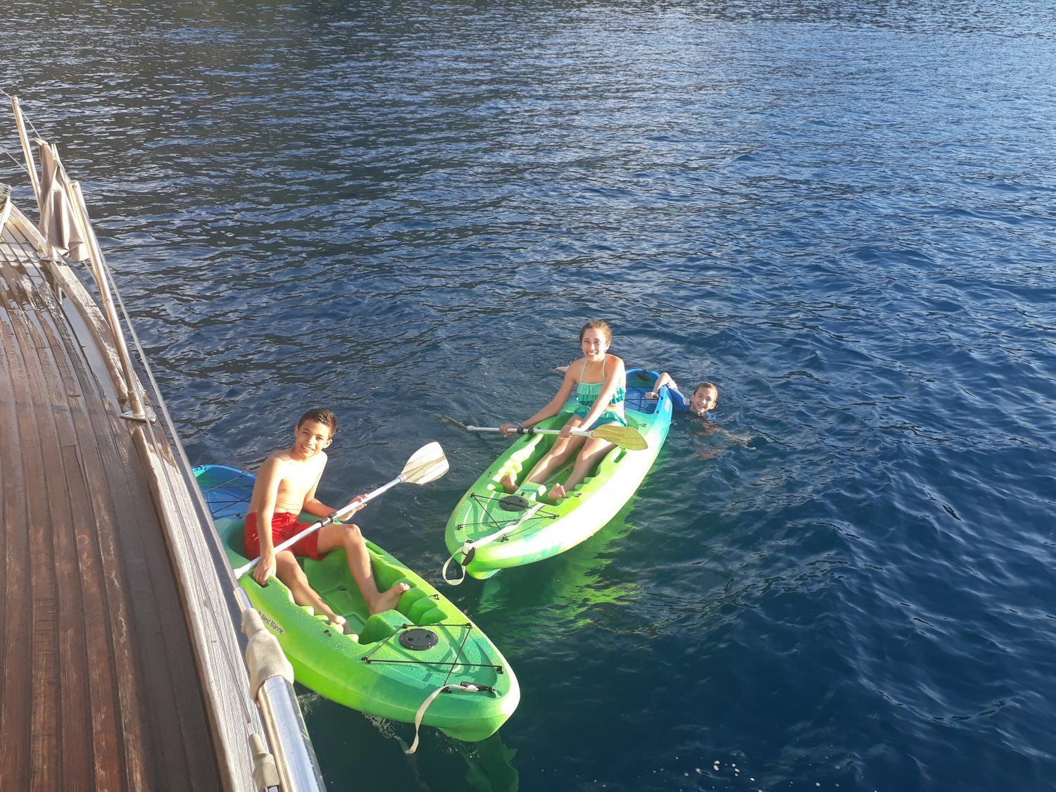 Eco Friendly Rigid Kayaks on Pacific Wave Yacht Charters