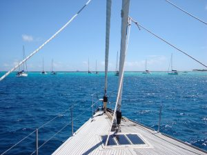 Pacific Wave at anchor in Tobago Cays SVG on a Grenadines Yacht Charter
