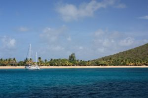 Saline Bay Mayreau from SY Pacific Wave Grenadines Yacht Charter