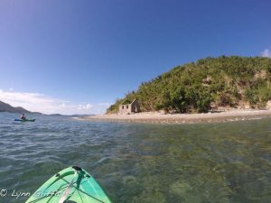 Kayaking to the Customs House on Whistling Cay St John USVI