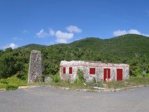 St John old sugar mill buildings post Irma