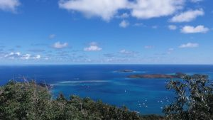 Aerial view of Prickly Pear Island North Sound BVI
