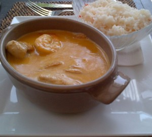 Fish Stew with a Coconut Sauce served with Basmati Rice