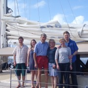 Extended family charter Yacht Haven Grande Marina USVI