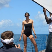 Model looks like Catherine Zeta Jones in a bikini