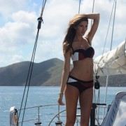 Raunchy pose onboard Pacific Wave