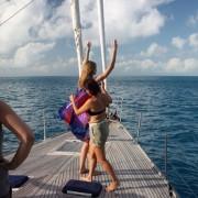 Bikini Model Photoshoot onboard Pacific Wave