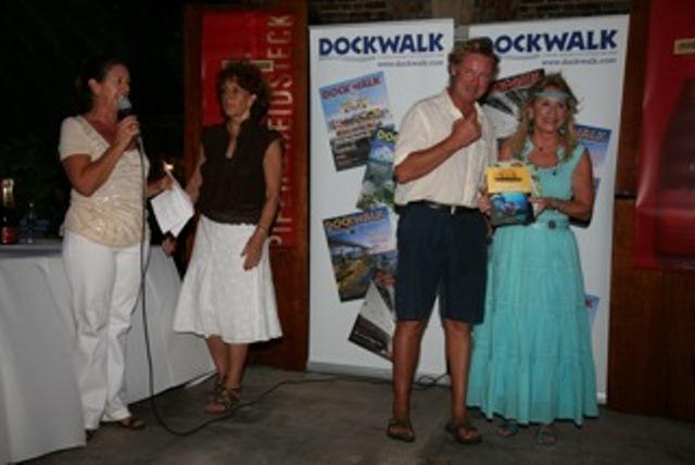 Mark receiving his award from Martha Gilkes