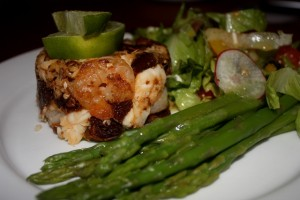 Lobster & Shrimp Terrine with fresh Asparagus