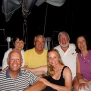 Three couples onboard Pacific Wave St Barths