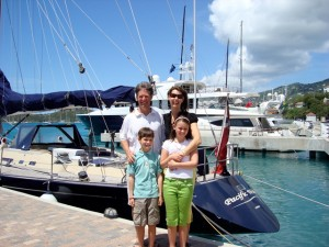 Family Charter onboard Pacific Wave on the dock St Thomas USVI