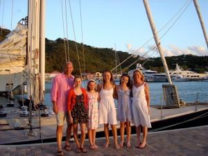 Family Charter Pacific Wave at Yacht Haven Grande Marina USVI