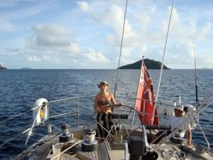 Family charter in the Grenadines