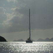 Pacific Wave at anchor off Virgin Gorda BVI