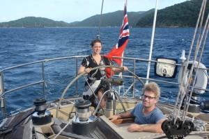Honeymoon Couple onboard SY Pacific Wave British Virgin Islands