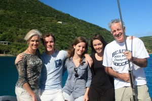 Christmas Charter Guests onboard Pacific Wave BVI