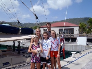Charter guests onboard Pacific Wave Yacht Haven Grande Marina USVI