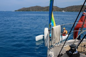 Hobbie Cat dinghy sailing in the BVI