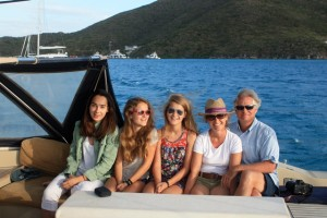 Charter guests onboard SY Pacific Wave